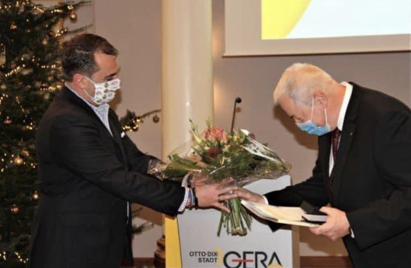 Dr. Pannach mit Ehrenpreis